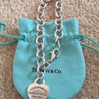 REDUCED PRICE - Authentic Tiffany & Co heart tag charm bracelet