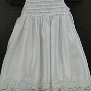 Room 8 Couture 1T Kid White Princess Gown Dress
