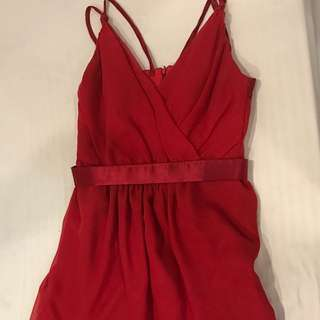 RUSH SALE Red Cocktail Dress (with silk)