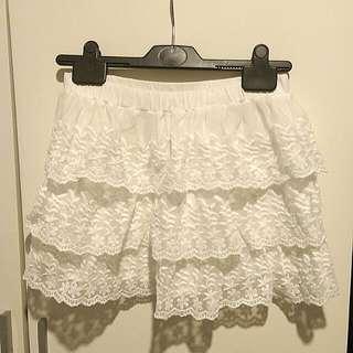Zara童裝純白蕾絲半截裙 #aprilsale