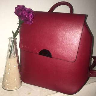 ZARA BASIC RED BACKPACK