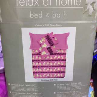 Clearing Sales BN Single Bed Full Set Bedsheets
