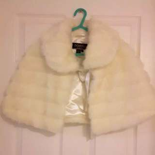 White Color plush shawl