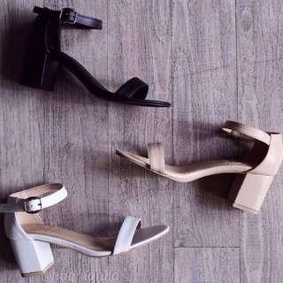 Black Blocked Heel