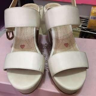 Grace Gift 二手 粗跟鞋 厚底鞋 涼鞋 ㄧ字鞋