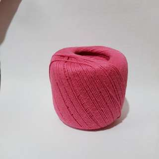 A Ball Of Brand New Pink Yarn