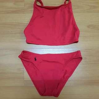Ralph Lauren Red Two Piece Swimwear
