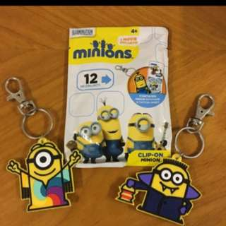 Minions Clip On 鑰匙扣(包郵)