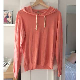TNA Hoodie in Coral, Small