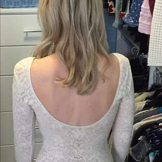 Silence + Noise Lace Top with Low Back