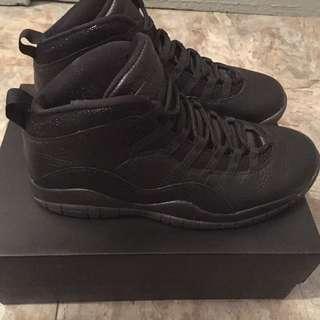 Air Jordan 10 Retro OVO Black/Black-Metallic gold