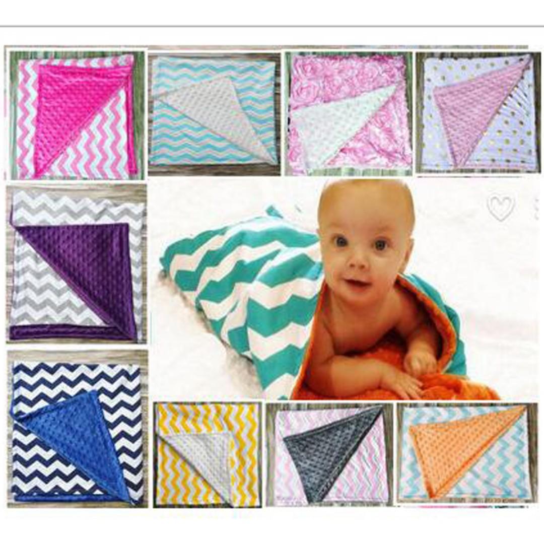 26cd8684432e 2PCS Newborn Baby Blankets Super Soft Cotton Spring and Autumn ...