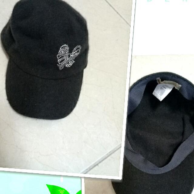 (3款帽子)鴨舌帽,毛帽,運動帽,毛料鴨舌帽