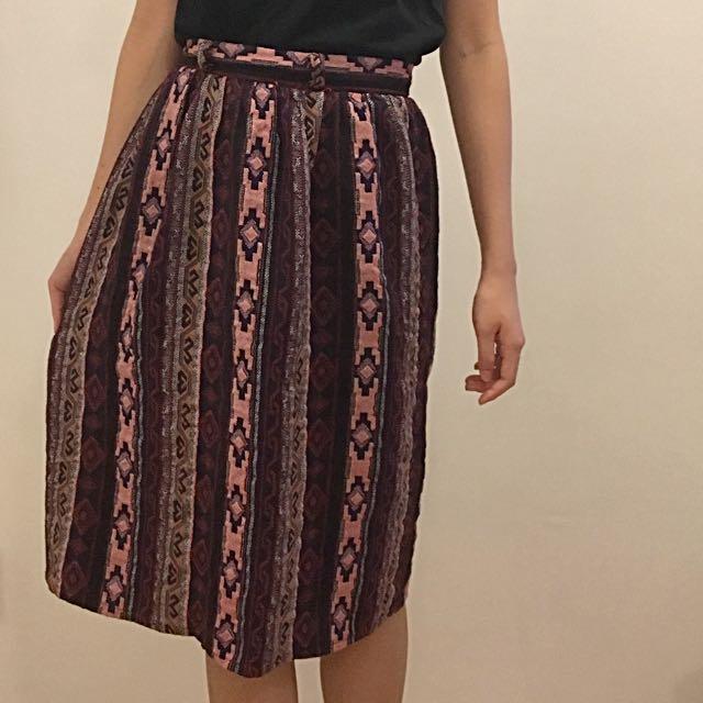 民族風花紋裙