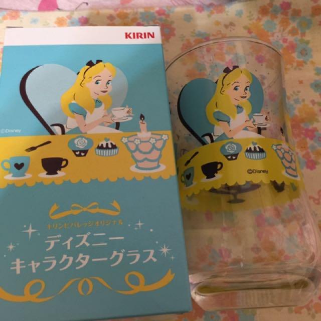 「搬家出清,只賣4月底」日本製限量版午後紅茶愛麗絲玻璃杯