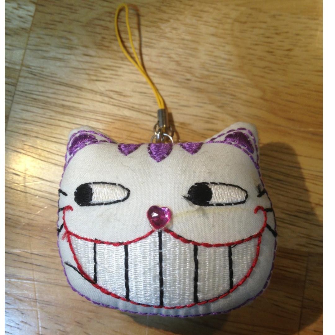 貓咪笑臉 手工製作刺繡小吊飾