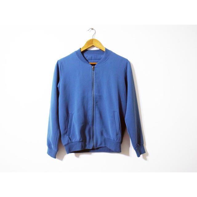 春季雪紡灰藍飛行外套 棒球外套夾克 uniqlo h&m