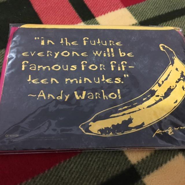 安迪沃荷 Andy Warho 香蕉 收納袋