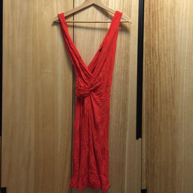 全新 Mango桃紅色洋裝