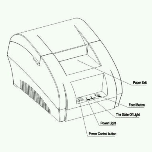 Taffware POS Thermal Printer ZJ-5890K