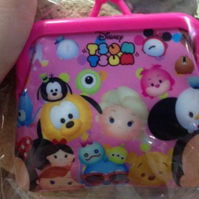 ✨全新 Tsum Tsum 疊疊樂 Disney 小零錢包 置物小包