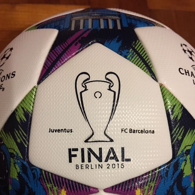 ddb9e5f5b85 Adidas Official Match Ball Finale 2015 Juventus Barcelona Imprints ...