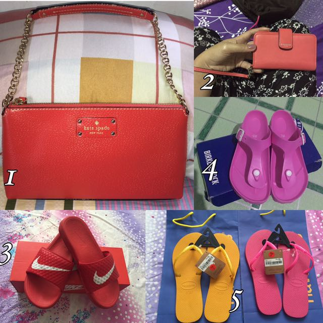 All Authentic, Birkenstock, Kate Spade, Coach, Nike, Havainas, Michael Kors, Mk