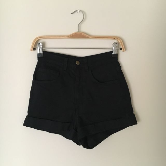 American Apparel - High Waisted Cuff Shorts