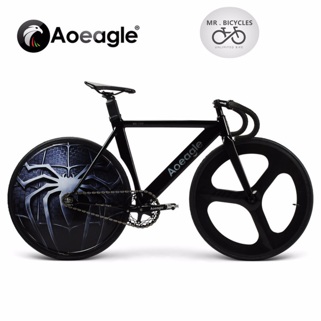 AOEAGLE, Fixed gear -- Specific LED Disc Track Rear wheel + Carbon ...