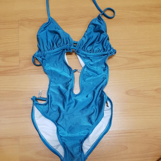 Aquamarine Cut Out One Piece Swimwear
