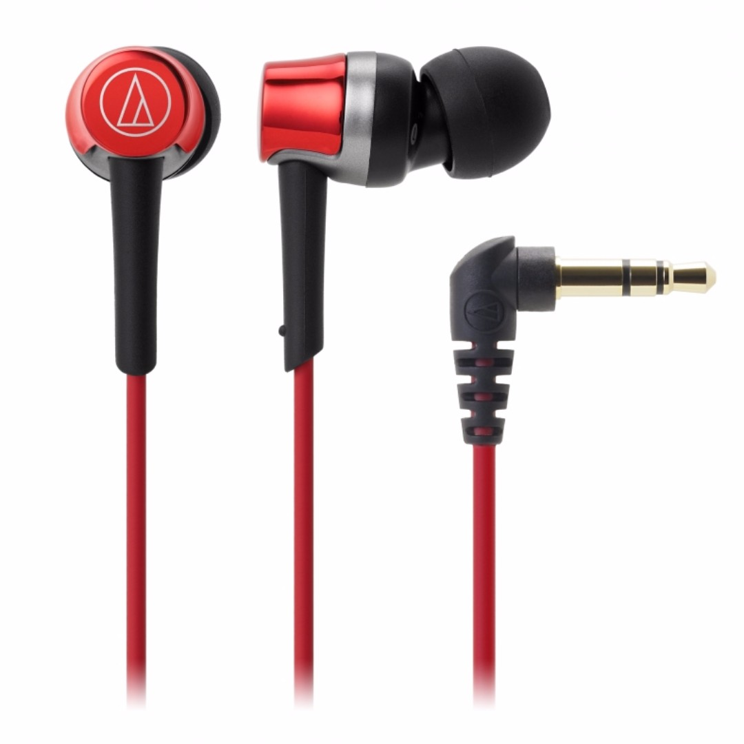 Image result for Audio technica ATH-CKR30iS RED