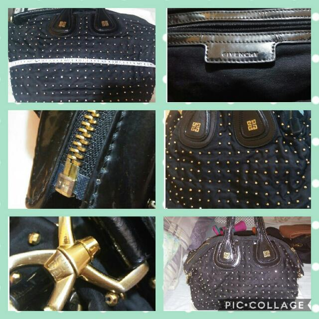 Repriced Authentic Givenchy Nightingale Gold Studded Bag