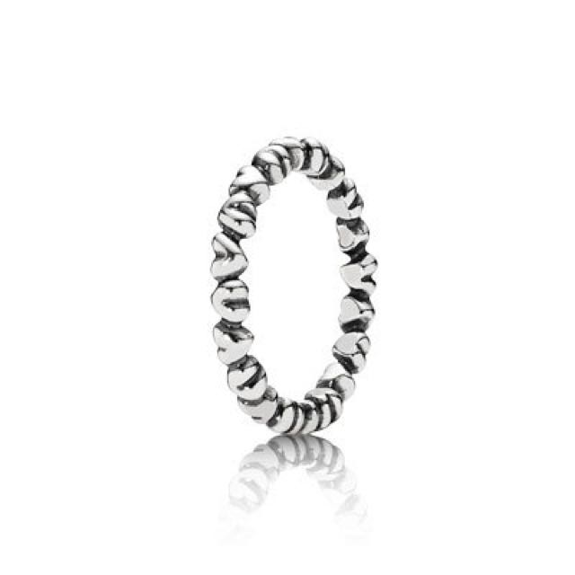 AUTHENTIC Stackable Love Heart Pandora Ring