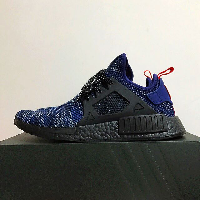 sports shoes 3bac0 781eb [Authentic] UK9.0 US9.5 Adidas NMD XR1 Black Blue