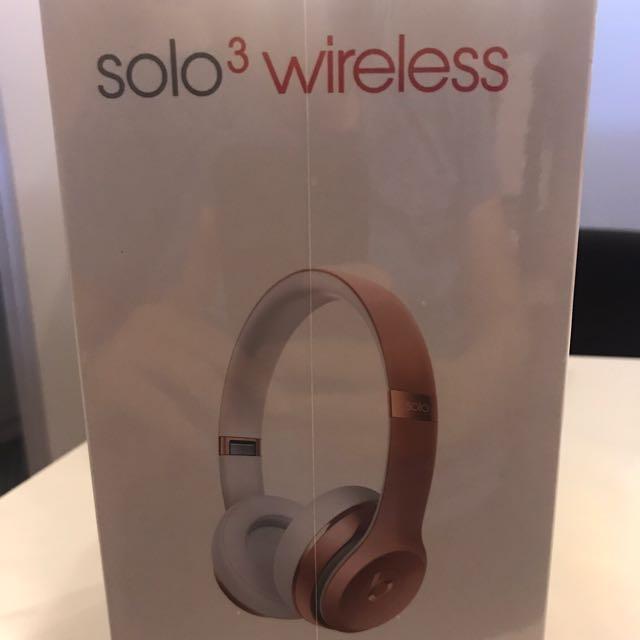❗️降❗️🎧Beast Solo3藍芽耳罩耳機✨玫瑰金