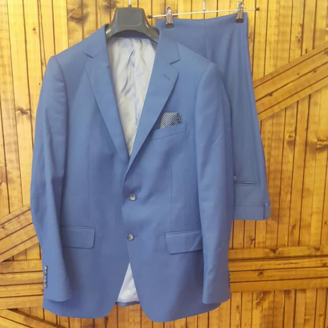 Bell & Barnett Blue Suit Size 36 Pant And 42R Jacket