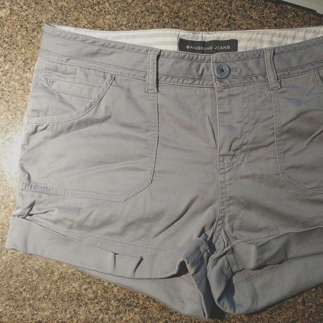 Blue Grey Shorts