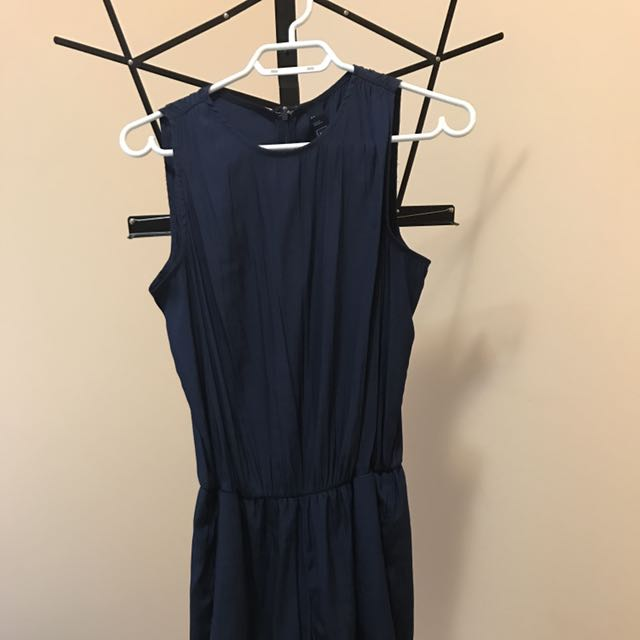 blue short jumpsuit