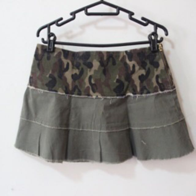 Body And Soul Army Skirt