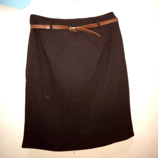 Brown Span Skirt
