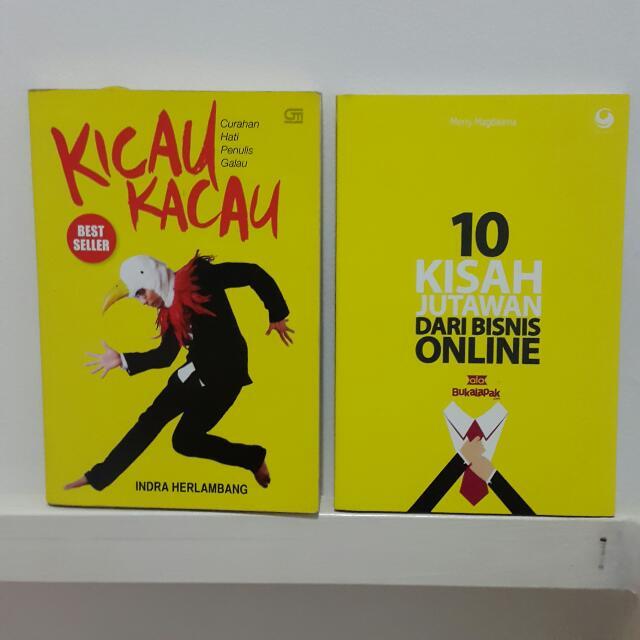 Buku Novel Kicau Kacau Indra Herlambang & 10 Kisah Jutawan Dari Bisnis Online BukaLapak.com