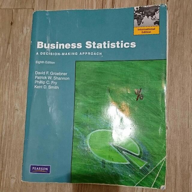 Business statistics a decision making approach 8/E eighth Edition 8版