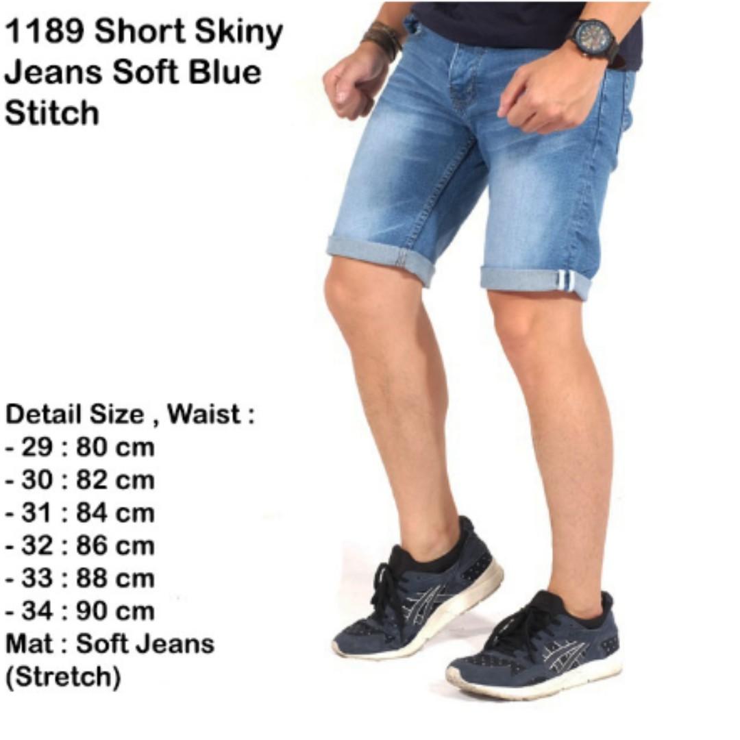 celana pendek jeans pria   short skinny jeans pria white stich ... 72b2b3eae4