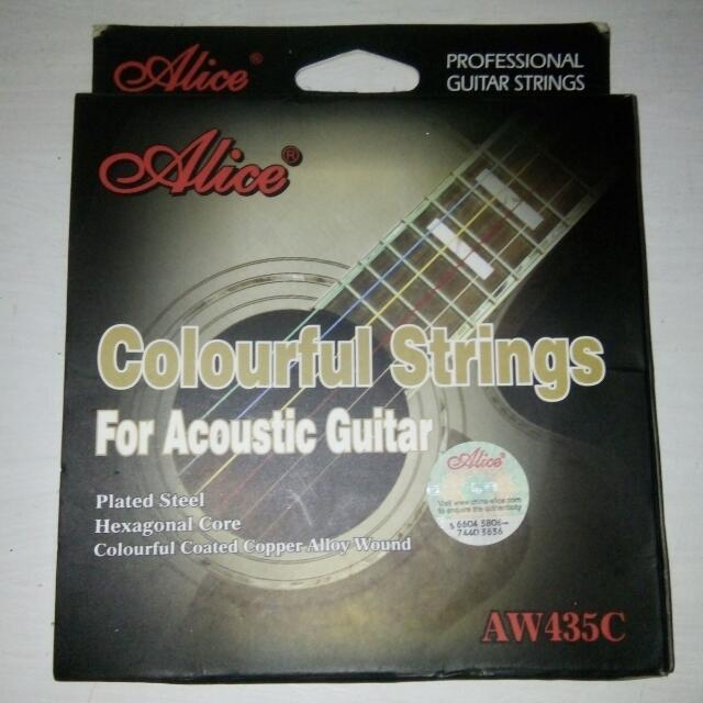 Colorful Guitar Strings