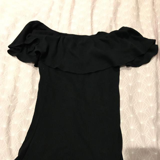 cbfcc120b1cc Cotton on Black Off shoulder Top