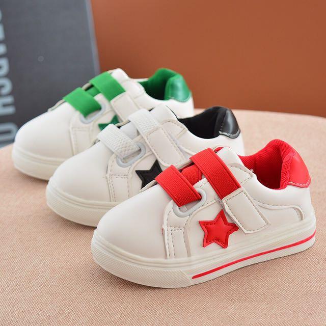 童鞋預購D340皮《韓版男女童魔術貼小白鞋運動鞋》魔法童裝衣櫃