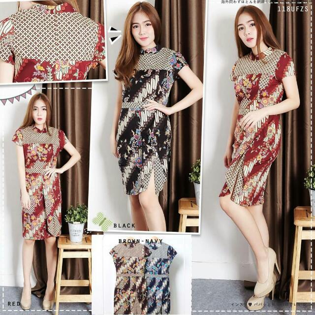 Delova Ucombination Dress By Clothtowear