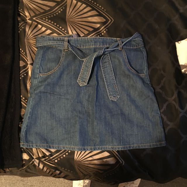 Denim Tie Skirt