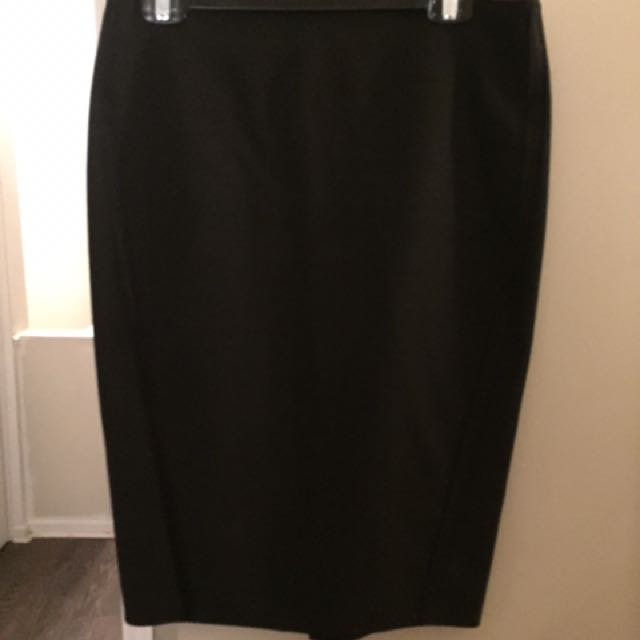 Elizabeth & James High Waisted Black Pencil Skirt