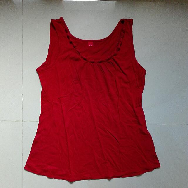 Esprit Tank Top. Size S. Color Red. 100% Cotton.